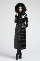Free shipping/2013 winter large fur collar thickening down coat fashion warm down jacket women super length down jacket