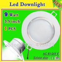 1 Pcs/lot 9W Bathroom Light Led Downlight 3.5Inch With Power Driver Hole Size 90MM Iluminacao Decorativa LED AC 110V 220V