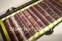 Free shipping 1pcs Mix Size Two-tone Brown Mink eyelash Colorful Mink Eyelash False Eyelash