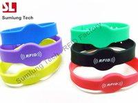 Hot sale! x6 125KHz RFID Tag Silicone Wristband RFID Proximity Watch Type RFID Wristband Waterproof