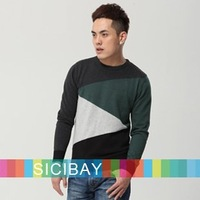 Men's Knitwear for Autumn Handsome Colors Patched Sweaters, Free Shipping    M0028