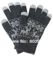 Hot Sale Fashion lady Winter  five fingers touch screen Gloves  For Ipad Free Shipping