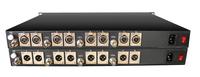 Broadcast Quality 4 Video 8 Audio Digital Fiber Optical Transmitter and Receiver