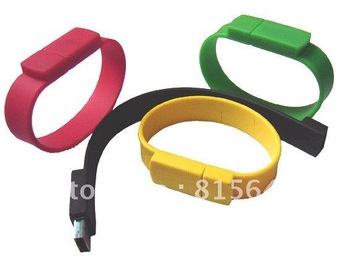 Wholesales OEM Wristband USB Flash Memory