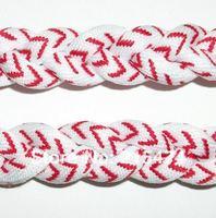 Free shipping high quality titanium baseball stitch necklace,baseball rope braided necklace