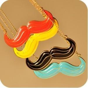 Wholesale Jewelry 12pcs/Lot Retro Big Pendants Mustache Necklace D2R10C