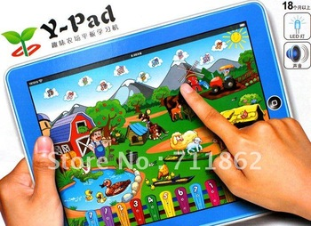 free shipping Y-pad Table computer lovely farm kid learing marchine educational toys