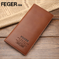 free shipping Male long design wallets cowhide wallet multi card holder genuine leather wallet commercial purse