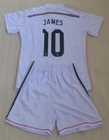 13/14 real madrid home white #7 RONALDO kids soccer uniform (jerseys + shorts) + can custom names&number