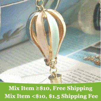 2014 Hot sales Korean Popular Fashion Vintage Elegant Charming Multicolor Hot Air Balloon Pendant Necklaces cheap wholesale M13(China (Mainland))