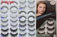 8 Styles Natural False Eyelashes Wholesale 5pairs/pack Makeup Tools Eye Lashes Cosmetic Products
