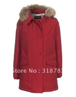 European and USA style women brand down coat Wool rich Artie Parka Long Sleeve warm jackets red,brown,dark blue,black  discounts