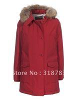 European and USA style women brand down coat Wool rich Artie Parka Long Sleeve warm jackets red,brown,dark blue,black  discounts