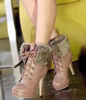 Free shipping fashion martin ankle boots for women shoes woman high heels 2013 platform pumps warm fur winter ladies CSXX34468