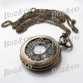 Min.order $10 Free shipping,exquisite decoration pendant watch,fob watch,necklace pocket women watch P008,with carve design(China (Mainland))