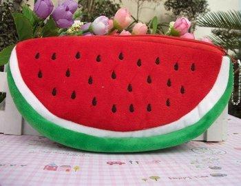 5PCS BIG Volume Watermelon Plush Pen Pencil BAG Pouch Case , Coin Purse & Wallet BAG , Cosmetics Beauty BAG Case , Pouch SACK