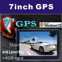 Free Shipping 7 Inch GPS Navigation FM 128 RAM Bluetooth AV-IN Lastest Map Speed Cam Build in 4GB Memory 788