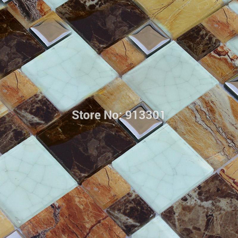 Hoek Toilet Badkamer ~ Crackle glas steen moza?ektegels goedkope badkamer vloeren metalen
