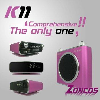 UnisCom K11 for  teacher & tour guide/ Digital Audio Player Flash MP3 Player FM Radio fashion Multifunctional amplifier Speaker
