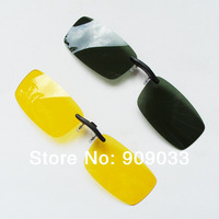 [Unisex][3Colors]Wholesale-Polarized Sunglasses Clip on Eyeware for Myopia Fishing Driving for Day/Night use 20pcs/lot
