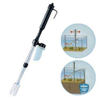 Aquarium Fish Tank Vacuum Syphon Auto Gravel Water Filter Cleaner Washer New