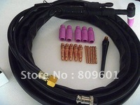 High quality tig welding  torch + 4 SETS CONSUMABLES + Argon Regulator on sale