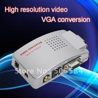 PC Laptop Computer VGA to RCA AV Signal TV S-Video Converter Box Adapter New