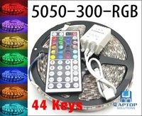 5050 RGB Led Strip Flexible Light 300 LED 5m SMD Waterproof + 44key IR Remote Controller