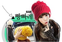 [Vic] Wholesale 5pes/lot Handmade Wool Woman Winter Crochet Knit Beanie Hat  10 colors in stock #MZ022+Free Shipping,