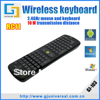 Hotselling Measy Gyroscope 2.4G Mini wireless keyboard fly air mouse RC11 for Android TV BOX Dongle for mini PC for TV Player