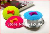 New Arrival Eco-friendly Silicone Butterfly face Cup Lid