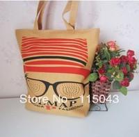 Free Shipping, Dot Printing Canvas Shopping Bag Large Capacity Women's Totes Bag Cartoon Handbags for Girls,min order 1lot/5pcs