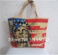 Free Shipping,Cartoon Printing Canvas Shopping Bag Wholesale Large Capacity College Student School Bags Book Bag Ladies Handbag