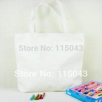 DIY Plain No Printing Canvas Shopping Bag Ladies Handbags Totes ,Free Shipping (min order 1lot/5pcs),SP-024