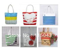 Wholesale 2013 Winter Female Canvas Shopping Bag Cartoon Printing Canvas Bags Shoulder Bag,Free Shipping(min order 1 lot/5pcs)