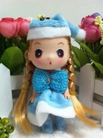 Lovely Blue Christmas Girl  DDUNG DOLL Girl  Pendant Key Chain Phone Charm Bag Decoration Chirstmas Gift Free shipping On sale