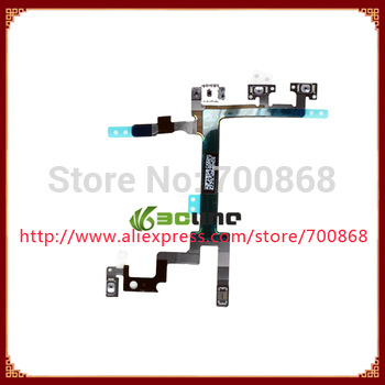10pcs/lot Power Switch On Off Flex Cable Ribbon for iPhone 5 5G Free shipping