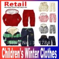 Free Shipping 2013  baby children's clothing Hoodies coat +pants 2pcs set girls boys kids sport suit autumn winter clothes