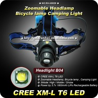1SET CREE XM-L T6 LED 1200Lum Multifunctional Headlamp Headlight Bike Bicycle Light Zoomable LiPo Rechargeable Battery
