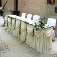 "25ft*29"" ice knit table skirting with velcro"