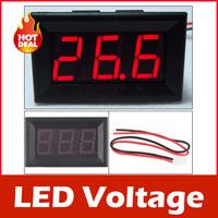New 4.5-30V DC Digital Display Voltmeter 3Bit Red LED Voltage Panel Meter