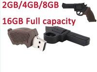 5pcs/lot 100%full capacity Pen drive The simulation pistol design,2GB/4GB/8GB/16GB USB Memory Flash Disk Drives freeshipping