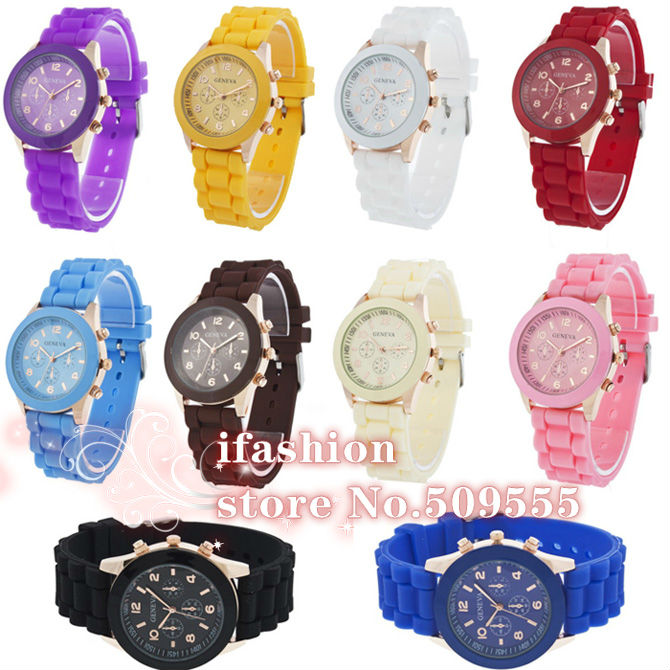 Wholesale New Arrival Geneva Wrist Silicone Sport Automatic Watch Silicone Bracelet Digital Skeleton Fashion Sports Watch(China (Mainland))