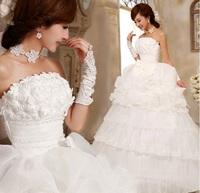 Free Shipping! Newest Style Fashion High-quality Flower Sweet Princess Bride Wedding Formal Dress