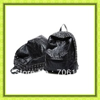 Free Shipping+High quality Backpack Bag Sac Mochila Bolso Rock Punk Skulls Calaveras Emo Gothic Spikes Pinchos