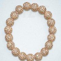 10mm Micro Pave Disco Ball Beads Shamballa Bracelet.TD5432 High Quality Vintage Rhinestone Jewelry.Best Christmas Gift.