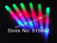 free shipping can customize the logo  led foam chinese wholesaler promotion led glow stick baton free shipping