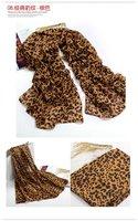 2012 classic hot  leopard grain scarf lady chiffon scarf free shinning