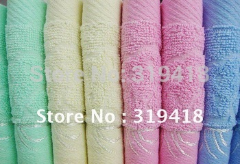 100% Cotton 33cm*75cm soft Face Towel Green / Yellow / Pink / Blue 95g comfortable for Men women for cheap free shipping