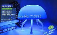 Fashion Novelty Cute USB power source dual-purpose jellyfish lamp soft shell night light lamp LED Free Shipping